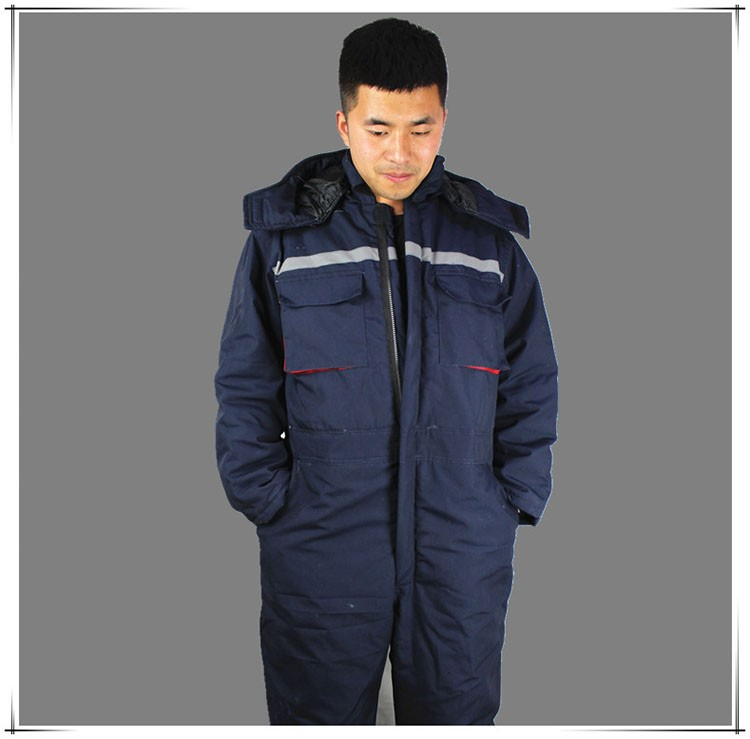 CCGK Winter working clothing Men wadded padded safety clothing outdoor work wear thicken warm protective reflective overalls (4)