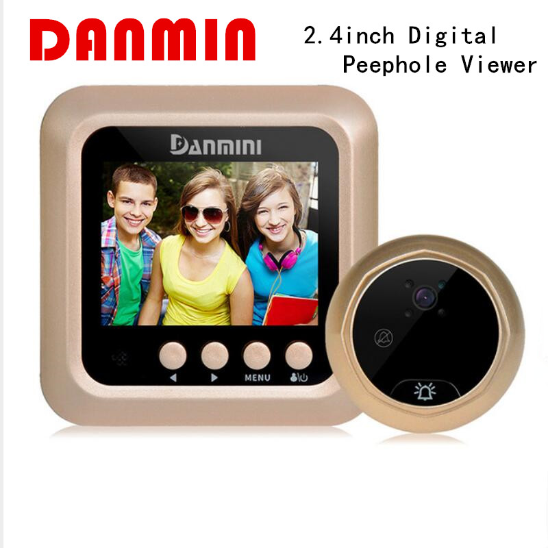 цены Danmini W5 2.4inch Door Security Digital Color Screen No Disturb Peephole Viewer 2 MP Support Max 32G TF Card