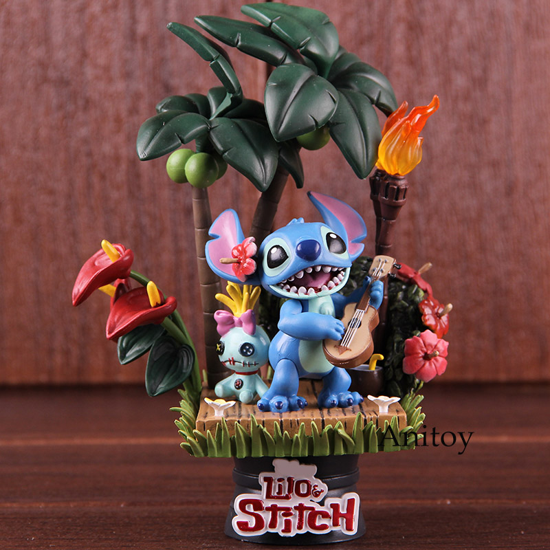 Lilo and Stitch Figurines Stitch & Scrump Hawaii Holiday Time PVC Beast Kingdom D-Select 004 Action Figure Collectible Model ToyLilo and Stitch Figurines Stitch & Scrump Hawaii Holiday Time PVC Beast Kingdom D-Select 004 Action Figure Collectible Model Toy