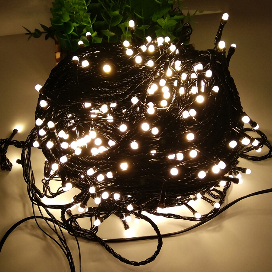 Thrisdar 100M 500 LED Christmas Fairy Led String Light 8 Modes Outdoor Garden Backyard Garland Wedding Party Holiday Fairy Light thrisdar 8m 100m christmas led fairy string light 8 function black wire outdoor garden patio fairy string party wedding garland