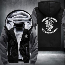 2017 new hot hoodies Mens Sweatshirts sons of anarchy USA Size fast ship full Fleece best quality