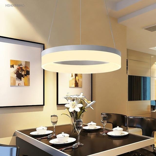 Moderna led anello acrilico lampadario casa sala da pranzo for Lampadari sala da pranzo
