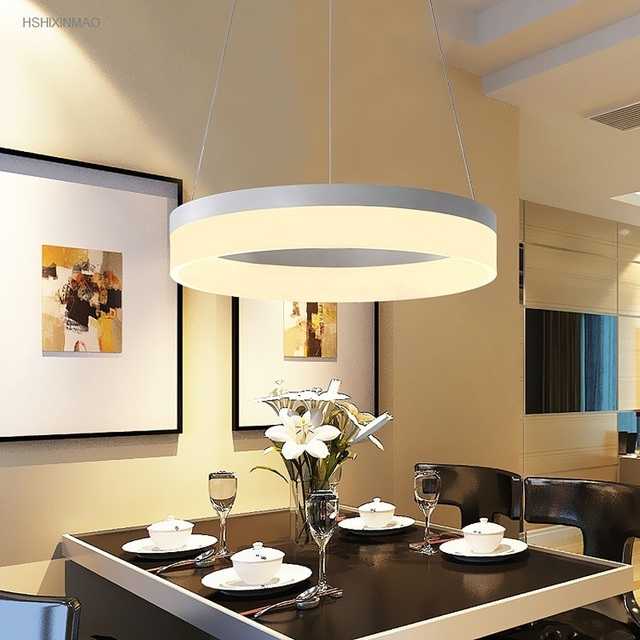 Moderne LED Ring Acryl Kronleuchter Hause Esszimmer Schlafzimmer Studie  Dekorative Beleuchtung Suspension Kronleuchter AC110V 240V