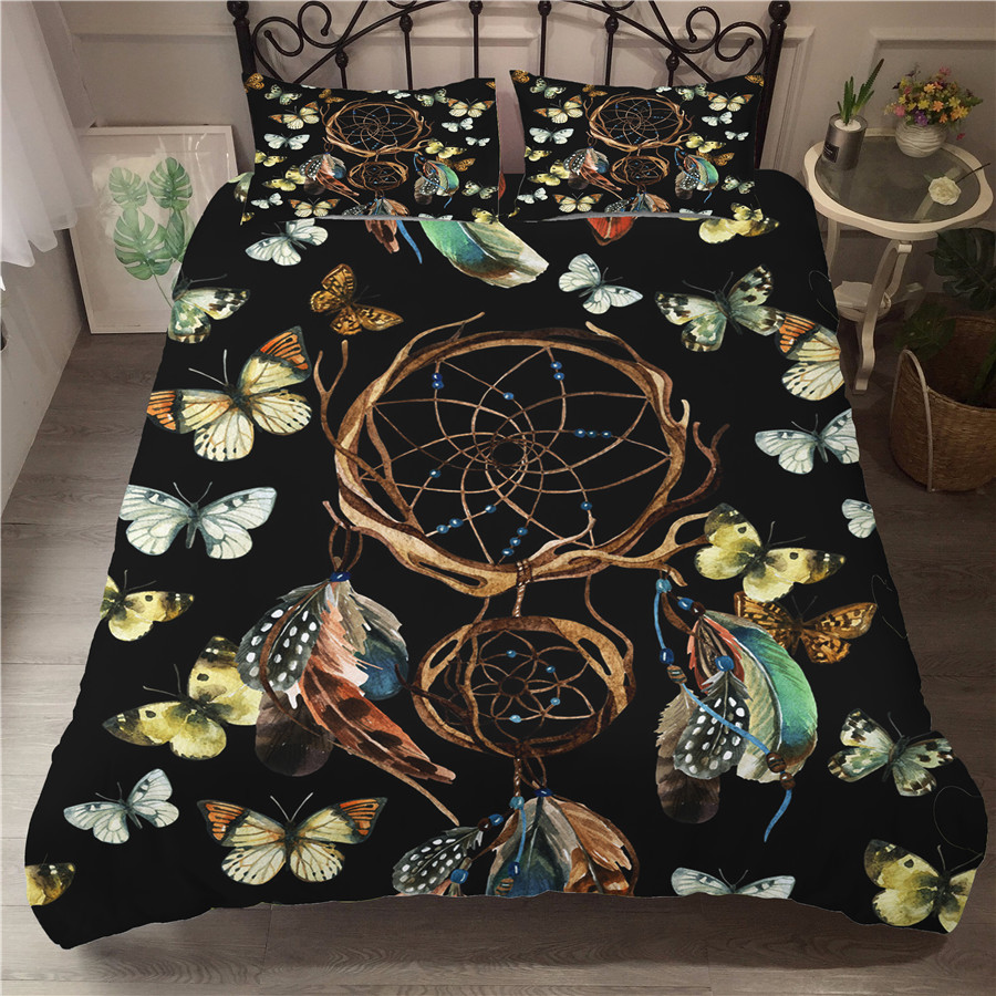 Bedding Set 3D Printed Duvet Cover Bed Set Dreamcatcher Bohemia Home Textiles For Adults Bedclothes With Pillowcase BMW26