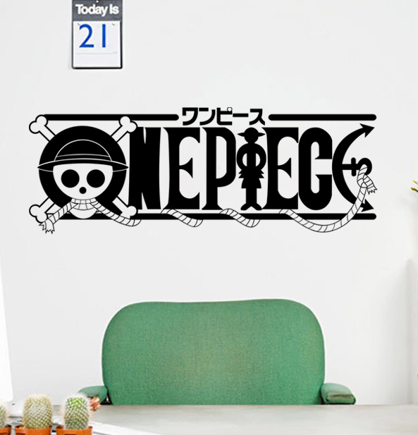 wall stickers children's room one piece straw hat pirates animation