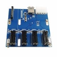 PCI-E pcie Riser Card 4PIN USB3.0 PCI-E 1 bis 4 PCIe Adapter 4 PCI-E 1X Erweiterungskarte 4-port PCIe Slot 2017 Neue Ankunft