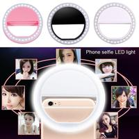 Portable Selfie LED Ring Flash Light Smart Mobile Phone Beauty Makeup Clip Camera Photography Luminous Light