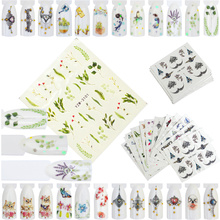 FWC 12 Styles Nail Art Flower Pattern Water Transfer Stickers Nail Decals With Butterfly Vintage High-end Necklace Nail Sticker стоимость