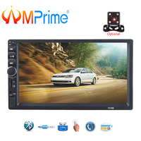 AMPrime 2 Din Car Radio 7 HD Car Multimedia Player 7018b Autoradio Bluetooth MP5 USB Audio Stereo With Rear View Camera Control