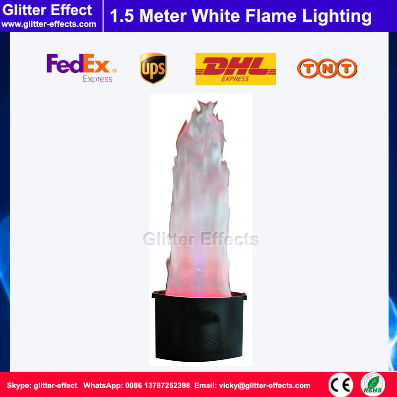 Stage Effect LED lamp silk 1.5 meter white Fake simulative fire flame lighting artificial flame blow machine