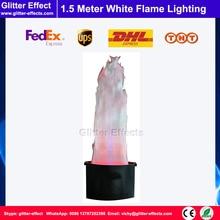 Сценическое освещение Светодиодный светильник шелк 1,5 м белый поддельные модельной огонь Светильники LED с искусственным пламенем искусственный Пламя машина для выдувания пузырей
