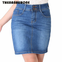 New Casual Long Jean Skirt 2014 Summer Fashion Denim Skirt Ladies Pockets Hip Cowgirl Skirts Plus