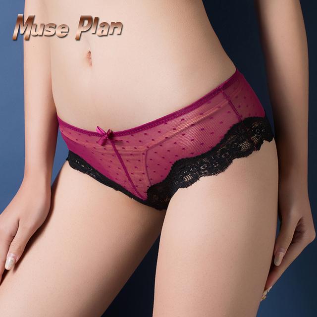 Women's Low waist cotton briefs Underwear Thongs Tangas