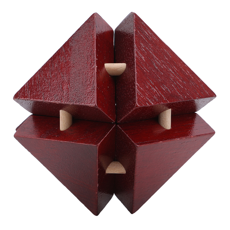 IQ Classical Toy Brain Teaser Unlock 3D Wooden Interlocking Burr Puzzles Game Toy Bamboo Educational Toys For Adults Kids