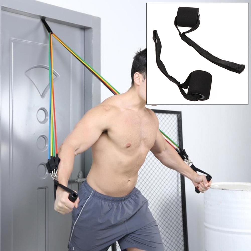 New Home Fitness Elastic Exercise Training Strap Resistance Band Over Door Anchor