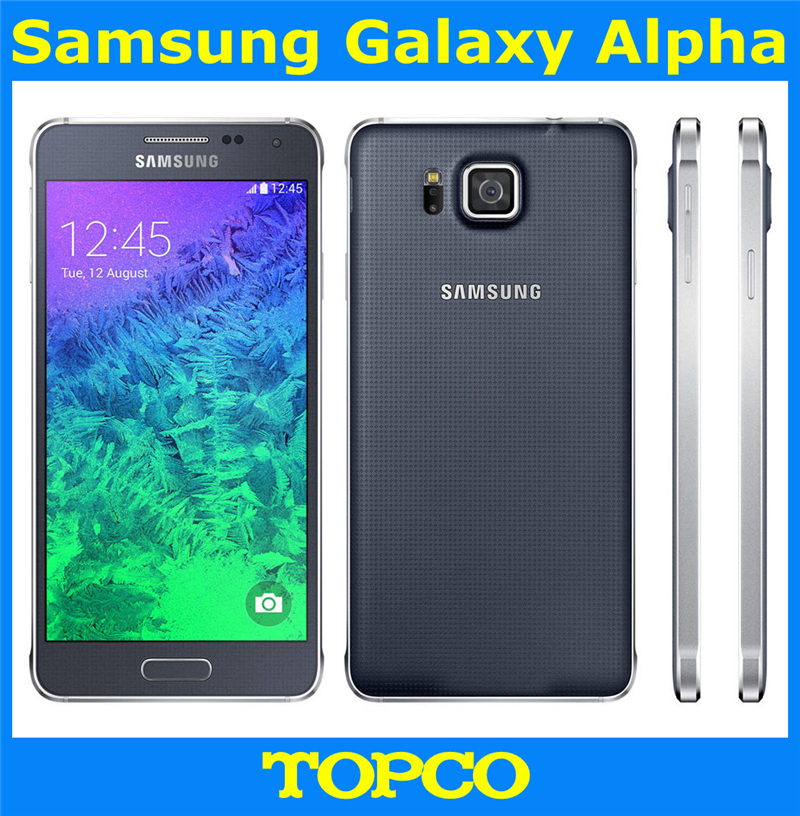 "Samsung Galaxy Alpha G850F original android unlocked mobile phone Quad core  2GB RAM 32GB ROM 12.0MP 4.7"" WIFI GPS dropshipping-in Mobile Phones from ..."