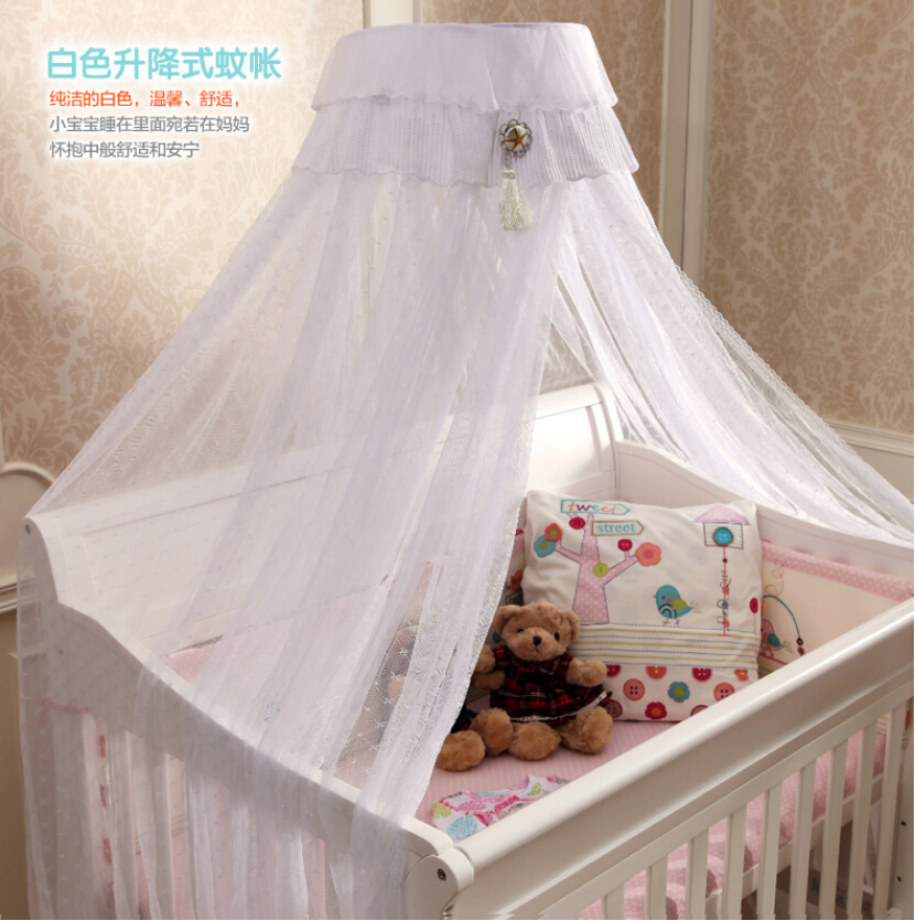 Beautiful Bed Canopy Baby Todder CribWhite Pink Yellow Netting Curtain Dome Mosquito NetNew Baby Infant Bed Canopy Insect Net-in Crib Netting from Mother ... : canopy netting - memphite.com