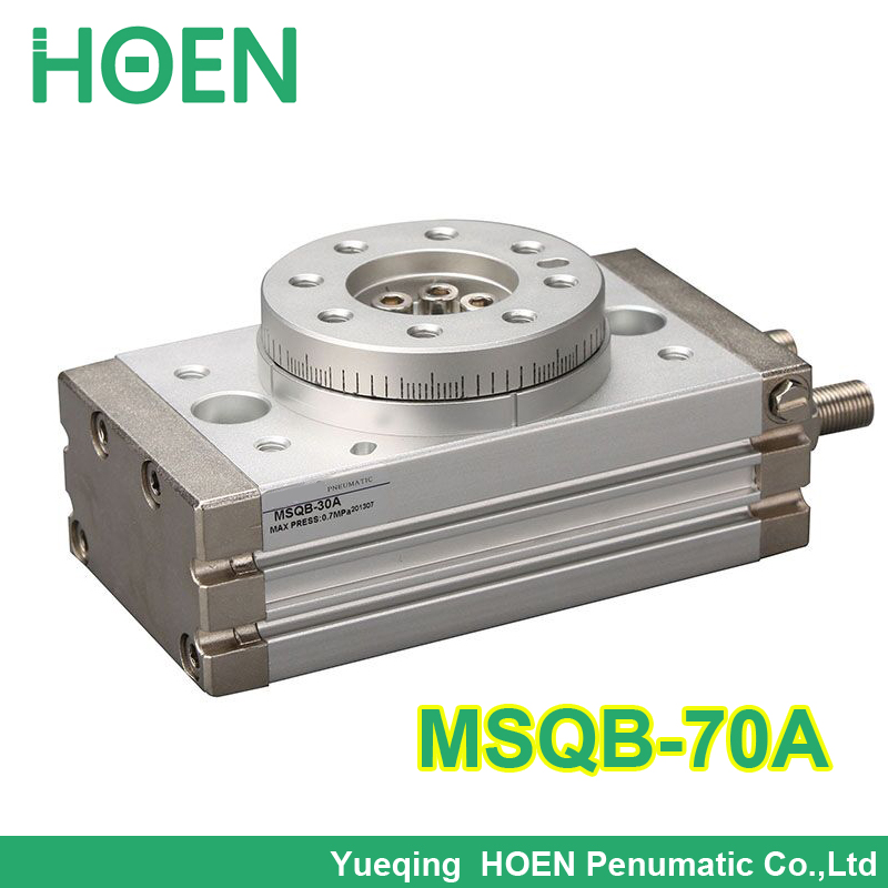 MSQB-70 High quality double acting air rotary actuator pneumatic cylinder table smc type MSQB-70A with adjustment bolt high quality double acting pneumatic air cylinder gripper mhc2 10d smc type angular style aluminium clamps