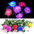 Hot Sale Novelty Rose LED Lights Flower Lamp Garden Yard Outdoor Path Lawn Power Xmas Decorative