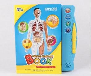 Człowieka podstawową wiedzę na temat ekran dotykowy E-Book dzieci Readin książka dla dzieci mogą uczyć się wiedzy,