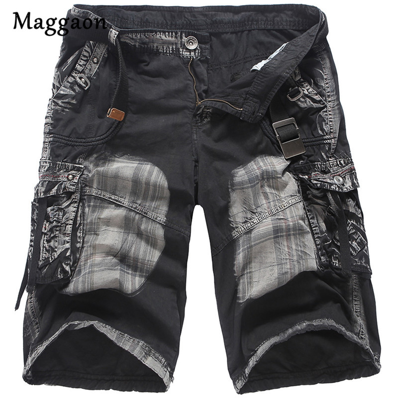 Mens Military Cargo Shorts 2018 Brand New Army Tactical Shorts Men Cotton Loose Work Casual Short Pants Plus Size