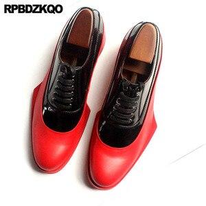 Image 3 - Włochy włoski prawdziwej skóry Runway mężczyźni czarno białe buty sukienka wysokiej jakości skóra bydlęca marki oksfordzie Prom duży rozmiar europejski