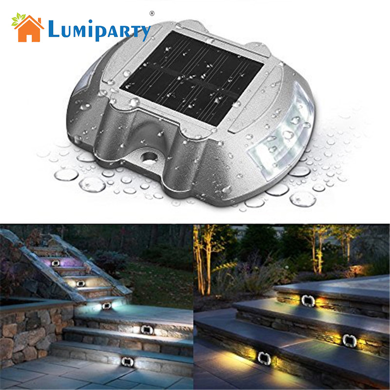 LumiParty Solar Deck Light LED Solar Dock Path Road Lights Marker lighting Security Lamp ...