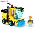 Bainily 1101 Совместимость С Legoe Город Уборочная Машина Серии Тележки Автомобиля Строительство Образовательные Игрушки Строительных Блоков