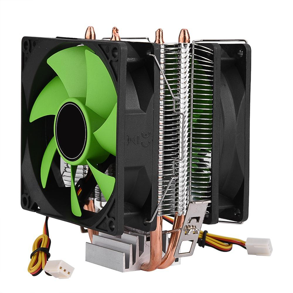 Image 3 - 90mm 3Pin CPU Cooler Heatsink Quiet fans for Intel LGA775/1156/1155 for AMD AM2/AM2+/AM3 Dual sided Fan Free Shipping cpu fan-in Fans & Cooling from Computer & Office