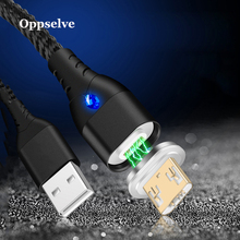 Micro USB Cable 3A Fast Charger Cord Oppselve Magnetic Nylon Data For Samsung Xiaomi Huawei Android Mobile Phone Tubo