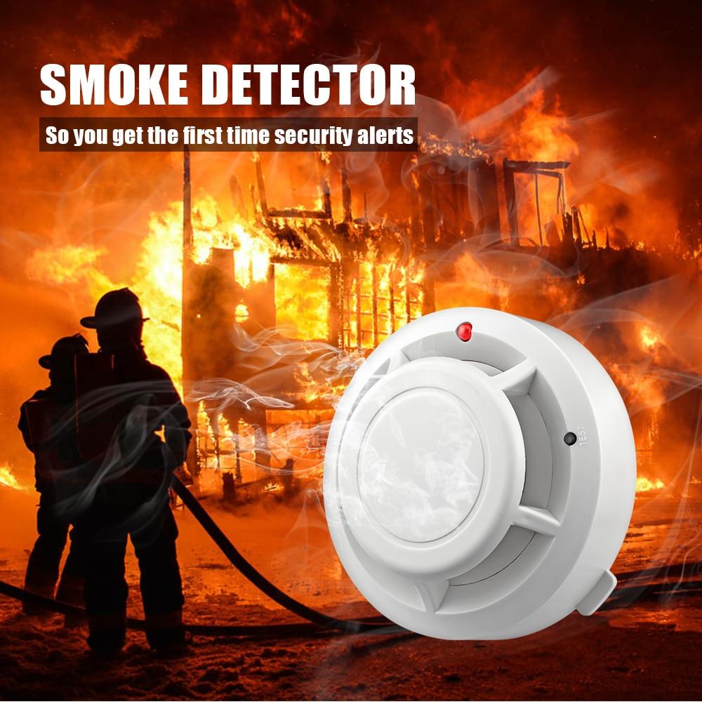 High Sensitive Smoke Detector Home Alarm Systems Security Independent Smoke Detector Alarm Fire Protection Sensor Alarm
