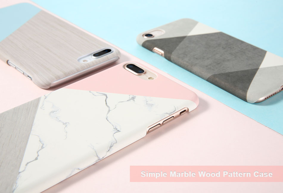 DOEES Hit Color Marble Hard PC Case For iPhone 5 5S SE 6 6S 7 8 Plus For iPhone X Case Wood Pattern Cover For iPhone 5 6 7 8 X (1)