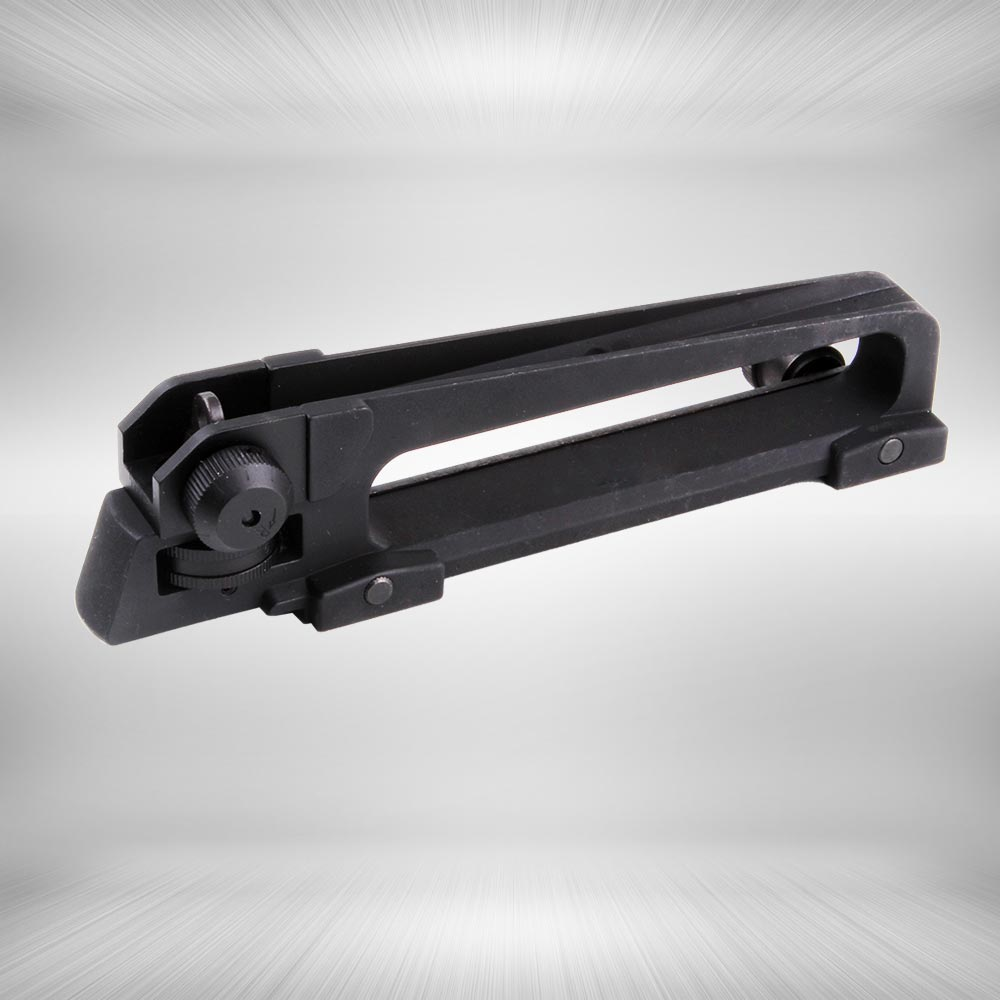 Tactical M4 M16 AR15 Detachable Standard Carry Handle Mount Aluminum and Steel Construction Rear Adjustable Sight
