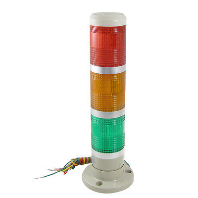 24V AC/DC Red Yellow Green LED Signal Industrial Tower Warning Lamp Light dc24v tower buzzer warning red green led industrial warning light