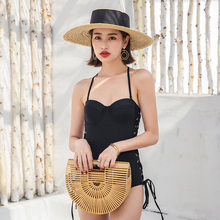 Sexy swimsuit black strapless new authentic bikini Chinese style bathing high quality summer push up