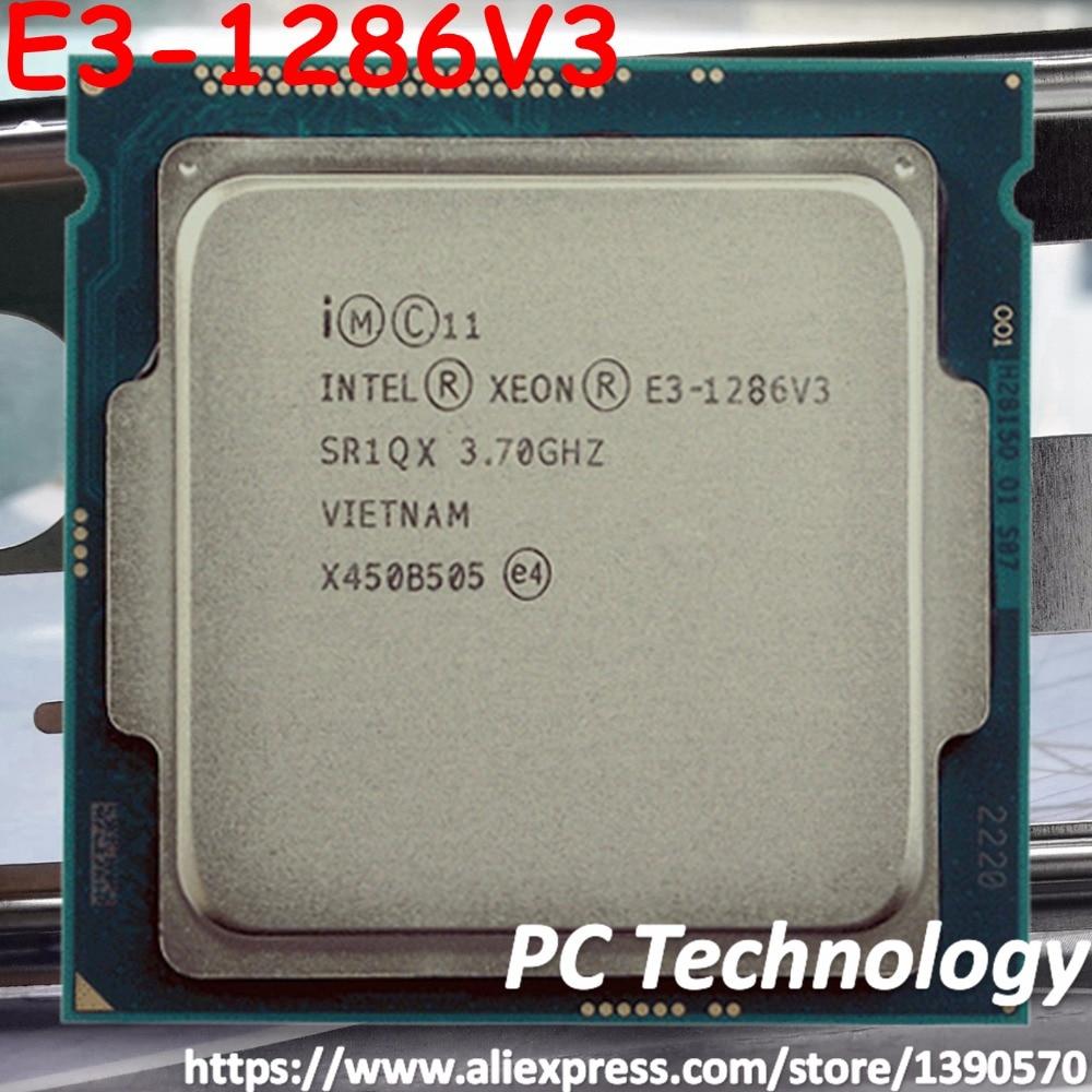 Original Intel Xeon processor E3 1286V3 CPU 3 70GHz 8M LGA1150 Quad core Desktop E3 1286
