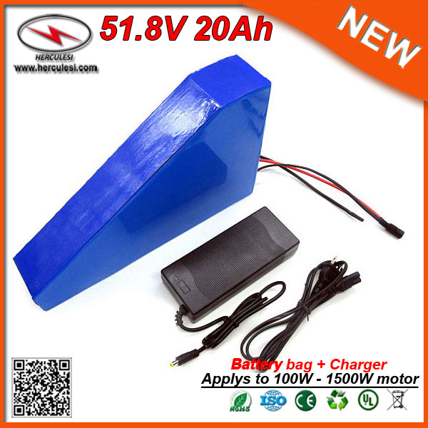 Triangle 52v Ga 18650 20ah Pack 1500w Lithium Li Ion