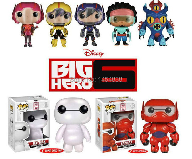 ada4e111d9f Funko Pop Big Hero 6 Baymax PVC Minion Toys Action Figure Marvel Movie  Beast Corps Garage Kits Super Heroes Fat Machine Robot