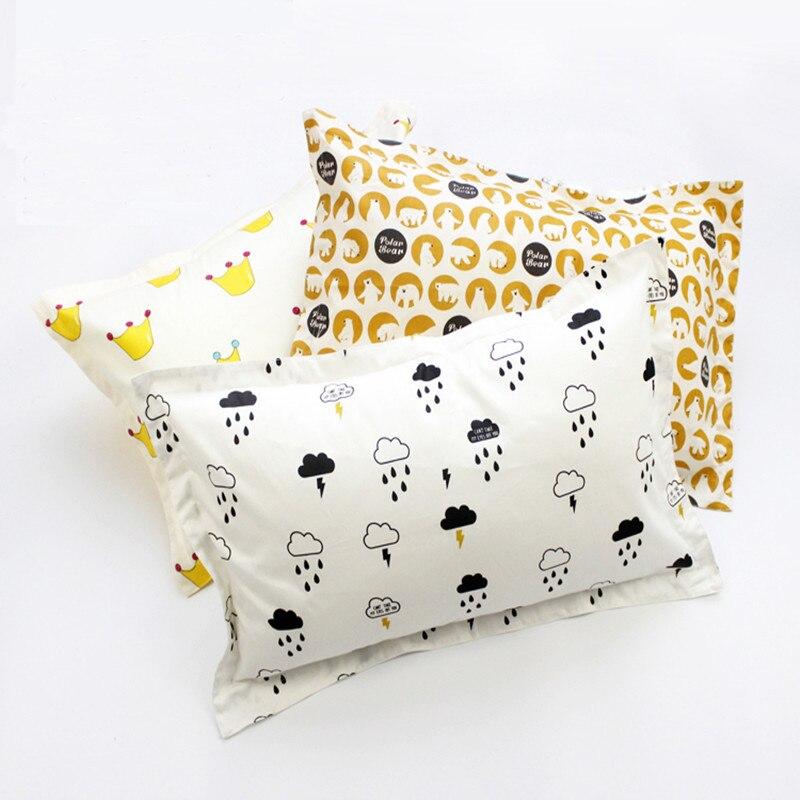 High Quality Double Face 100% Cotton Baby Pillowcase Bedding Pillowcase Single Pillow Cover Multicolor Pillowcase