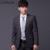 (Jakcet + Pantalón + Tie) Trajes Chaqueta Ocasional de Los Hombres de Dos Botones de la Tela Escocesa de Trabajo Slim Fit Trajes de Boda para Los Hombres XS-3XL Ropa Masculina