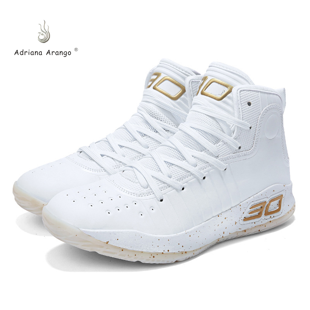 Adriana 2019 New Original High-top Couple Breathable Cushion Basketball Sneakers Boots Lace Up Basket Homme Four Season 36-45(China)