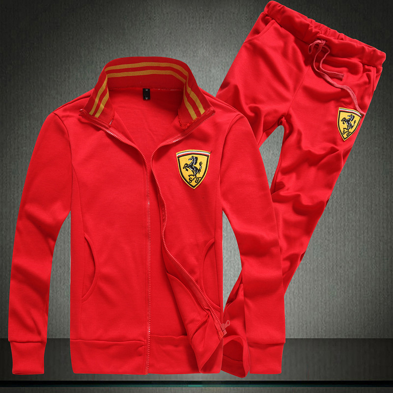 Unisex tracksuit with ferrari logo free shipping worldwide for Mercedes benz tracksuit