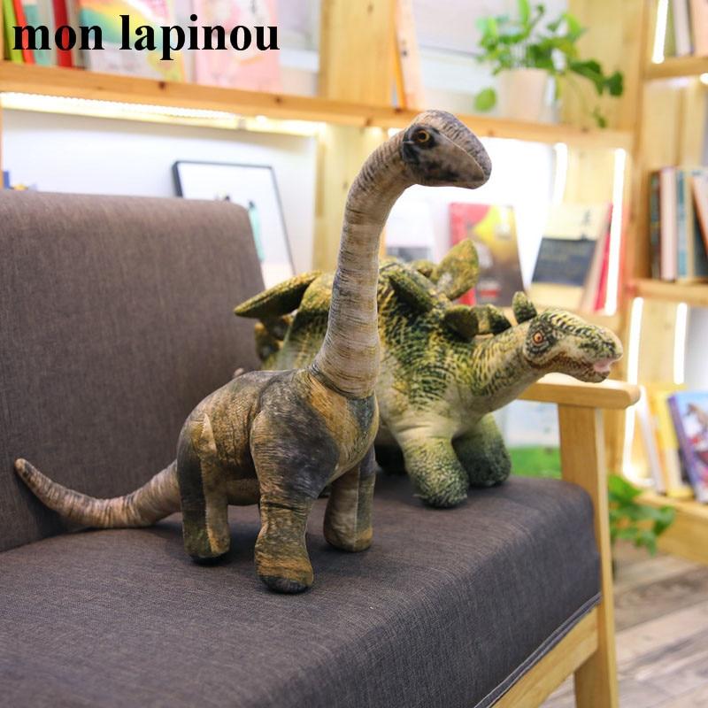 Mon Lapinou Jurassic World Dinosaur Plush Toys Simulation Plush T-rex/Seismosaurus/Stegosaurus/Spinosaurus Kids Toys Animal Doll