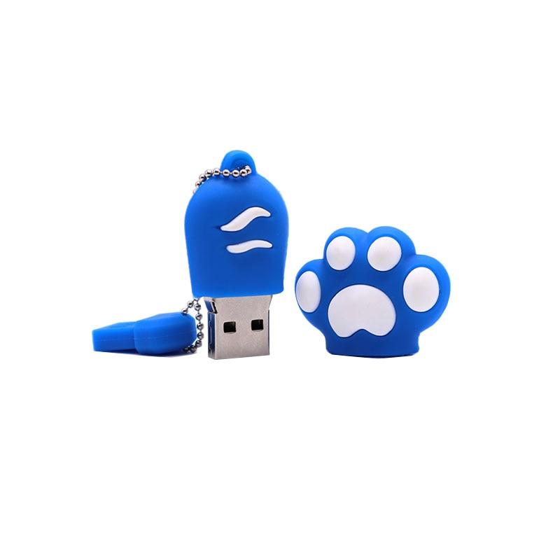 USB flash drive cartoon Cat claw pen drive real capacity memory stick 4GB 8GB 16GB 32GB 64GB creative gift pendrive usb stick in USB Flash Drives from Computer Office
