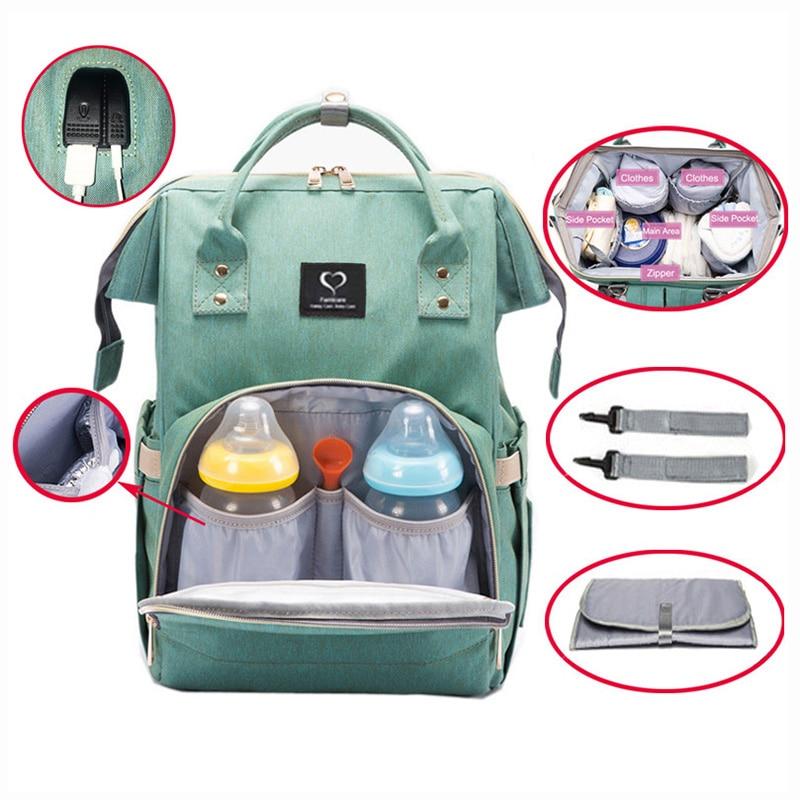 Diaper Bag Nappy Bag Waterproof Mom Maternity Travel Backpack Designer Nursing Bag Baby Care Stroller Handbag Changing Pad