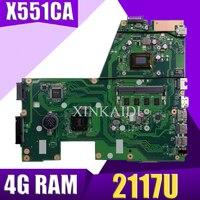 XinKaidi X551CA Laptop motherboard for ASUS X551CA X551CAP X551C X551 F551C F551CA Test original mainboard 2117U 4G RAM No Slot
