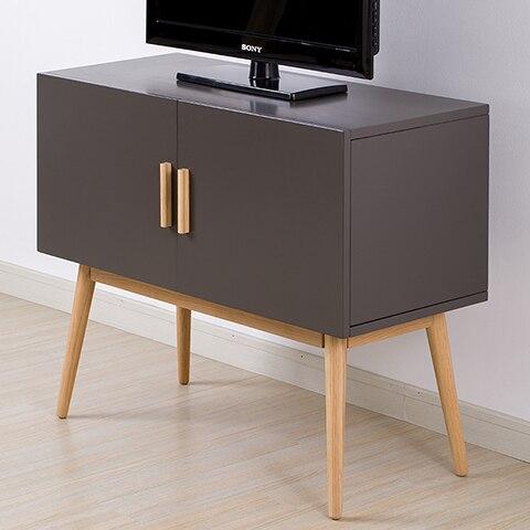 Aidai Nordic IKEA Home TV Cabinet Modern Minimalist Small Apartment Bedroom Living Room Sideboard White