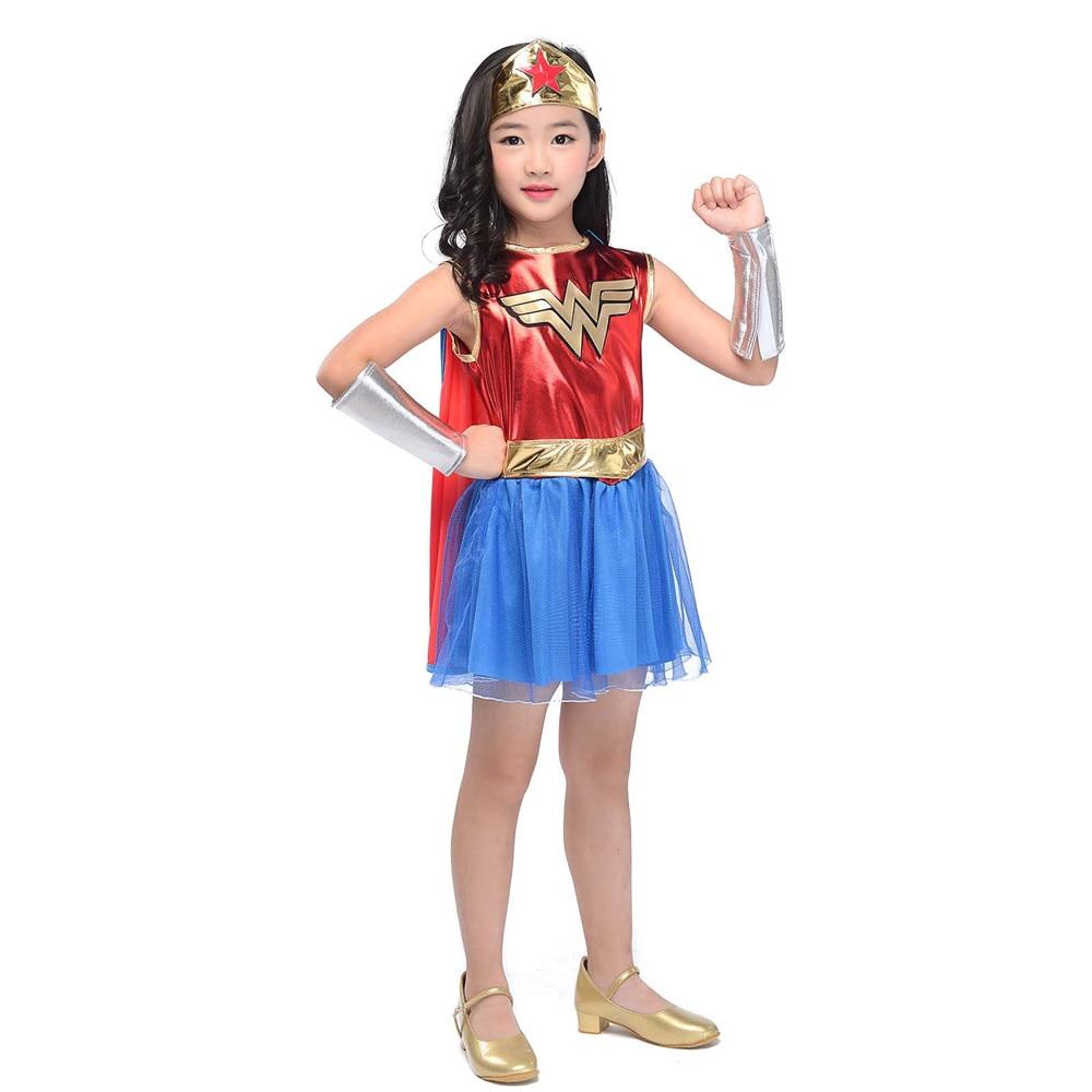 85016e168 Superheros Girls Costume Batgirl Wonder Women Costumes Robin Supergirl  Dress DC Superhero Halloween Movie & TV Costume for Kids-in Girls Costumes  from ...