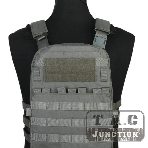 Emerson Tactical Adaptive Vest AVS Plate Carrier Assault MOLLE Lightweight Body Armor 3 Band Skeletal Cummerbund Foliage Green