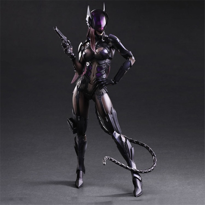 DC Batman Series Catwoman Action Figures Play Arts BJD Collectible Toys 25cm